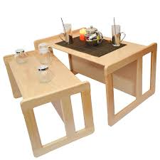 Beech Coffee Table 3 In 1 Adults Multifunctional Nest Of Coffee Tables Set Of 2 Or