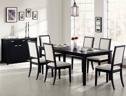 modern upholstered dining room chairs. stunning large black painted maple wood dining table with white upholstered image for modern room chairs n