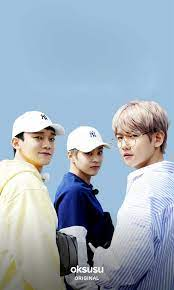 """OFFICIAL] 180420 oksusu App Update with EXO-CBX: """"EXO 'Ride the Ladder,  Travel the World' - CBX in Japan"""" Posters"""