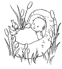 Small Picture Coloring Pages Baby Moses Basket Coloring Pages
