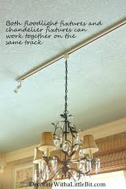 hang a chandelier hang a chandelier from track lighting interesting solution for over your dining table hang a chandelier
