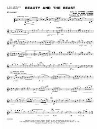 beauty and the beast sheet music beauty and the beast medley bb clarinet 1 sheet music at