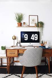 West elm home office Print At Home With New Darlings Featuring The West Elm Saddle Chair And Midcentury Desk Pinterest At Home With New Darlings In Phoenix Arizona Spotted West Elm
