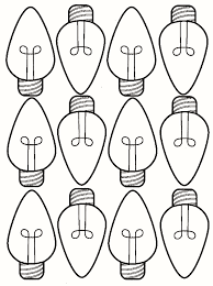 Free Printable Christmas Light Bulb Coloring Page 35 Beautiful