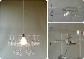 diy wine glass chandelier