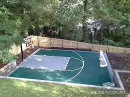 outdoor basketball court cost diffe ideas on home gallery design ideas
