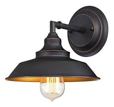 iron hill one light indoor wall fixture