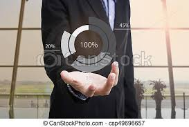 Hand Reflection Chart Businessman Hand With Graph Chart And Business Strategy For Business Finance And Banking Concept On Whiteboard