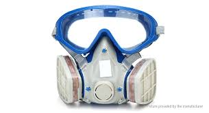 full face chemical pesticide mask respirator gas mask w goggles