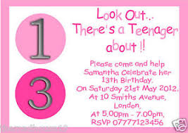 13th Party Invitations 13th Birthday Party Invites Cards Stationery Mince His