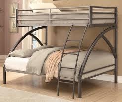 black metal bunk bed. Image Of: Silver Metal Loft Bed With Slide Black Bunk U