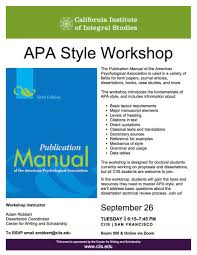Ciis On Twitter Apa Style Got You Down Join Our Center For