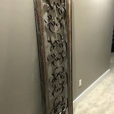 rustic wrought iron wall decor rustic wrought iron wall decor 4 wood framed distressed neutral colors
