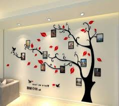 alicemall 3d wall stickers photo frames familytree wall decal easy to install apply diy photo gallery