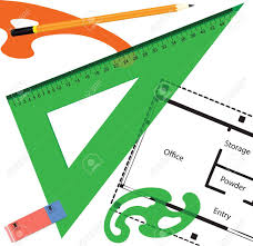office drawing tools. Drawing Tools With The Office Building Stock Vector - 15147314 L