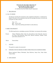 Sample Agendas For Board Meetings Non Profit Meeting Agenda Template Nonprofit Board Minutes Example