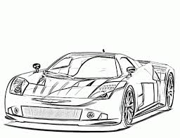 Printable Race Car Coloring Pages For