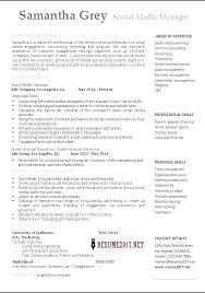 Community Manager Resume Social Media Resume Samples Social Media ...