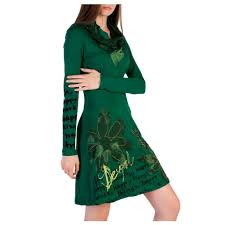 Desigual Dress Size Chart Desigual Women Green Dresses Products Dresses Green