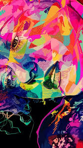 colorful trippy iphone 5 wallpaper id 38863
