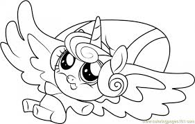 Flurry Heart My Little Pony Coloring Page Le Bazars Apprentissage