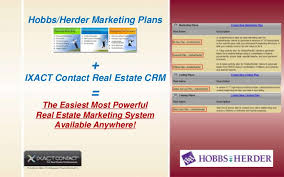 Real Estate Marketing Plan Magnificent IXACT Contact's Integration With The HobbsHerder Real Estate Marketi