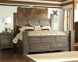 Wood Post Bed Frame Home King Wood Poster Bed Wood Four Post Bed ...