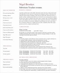 Substitute Teacher Resume New Substitute Teacher Resume No Experience Beautiful Substitute Teacher