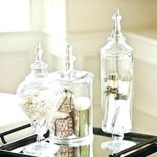 glass bathroom containers glass apothecary jars by bathroom containers small