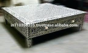inlaid coffee table wood metal