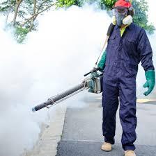 الصور عن رش مبيدات