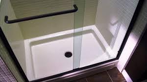 image of rv tub shower glass door