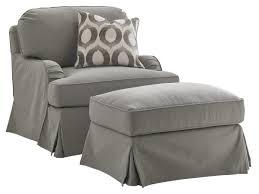 stowe ottoman slipcover gray