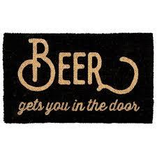 personalized front door matsNatural Coir Beer Gets You In The Door Doormat 491579078
