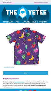 The Yetee Size Chart Pre Order The New Paperbeatsscissors Blamp Design The