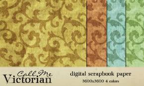 Free Digital Scrapbooking Paper Pack Ornate Swirls Call Me Victorian