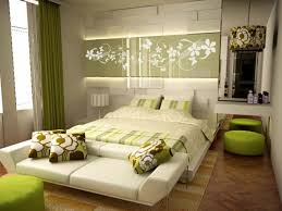 ... Home Decor, Modern Architectural Design Of The Green Bedrom Color That  Has Brown Modern Floor ...