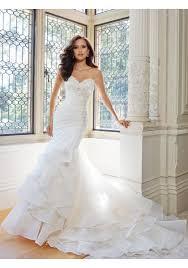 sweetheart chapel train organza trumpet mermaid wedding gown ast0029