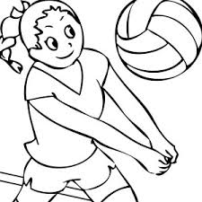 Small Picture ready to spike volleyball coloring page ready to spike volleyball