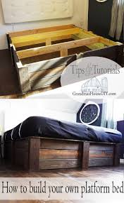 tutorial how to build your own platform bed using 2x6s easy work diy