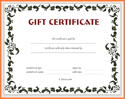 5 free printable blank gift certificates