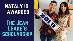 Nataly is awarded the Jean Leake Emerging Market Scholarship - YouTube