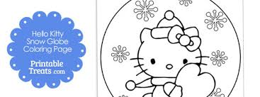 Small Picture Hello Kitty Snow Globe Winter Coloring Page Printable Treatscom