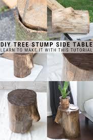 tree stump table decor page 1 line