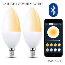 Daylight Candelabra Light Bulbs Smart Light Bulbs C35 Bluetooth E12 Led Bulb Dimmable
