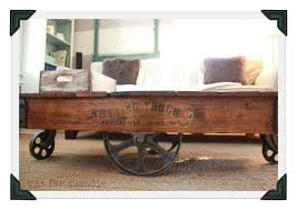 ... Charming Never Quite Done Q Is For Quandie Factory Cart Coffee Tab  Factory Cart Coffee Table