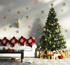 Wall Xmas Decorations Furniture Accessories Country Christmas Decorations Simple