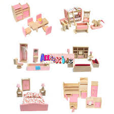 doll house furniture sets. Image Is Loading Wooden-Doll-House-Dollhouse-Furniture-Miniature-6-Rooms- Doll House Furniture Sets U