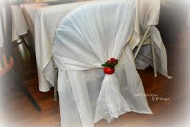 quick and easy folding chair covers dollar rectangular plastic table cloths cut in half d over the top and tuck the other end through the