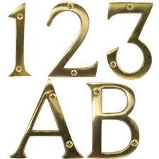 Decorating apartment door numbers pictures : Brass Door Numbers | eBay